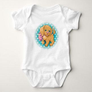 Illustration eines niedlichen Hundespaniel Baby Strampler