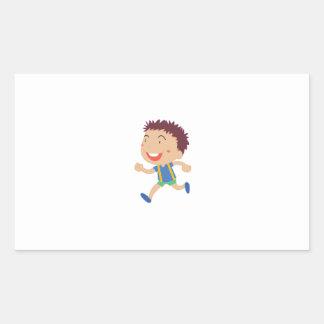 Illustration mignonne d'enfant sticker rectangulaire