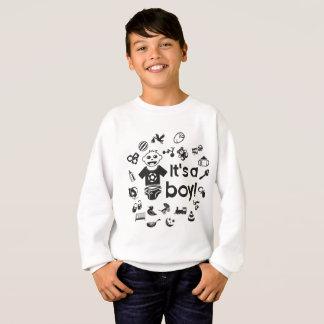 Illustration schwarzes ITIS EIN JUNGE! Sweatshirt
