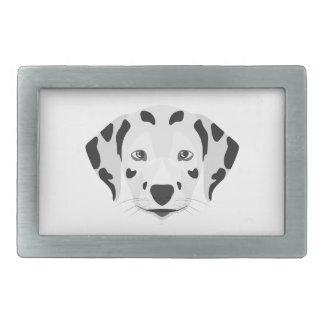 Illustration verfolgt Gesicht Dalmatiner Rechteckige Gürtelschnalle