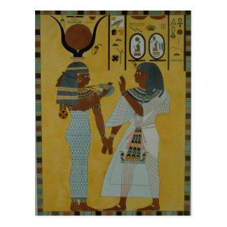 Illustration von den Gräbern des Tales Postkarte