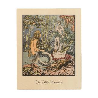 Illustration von der kleine Meerjungfrau-hölzernen Holzwanddeko