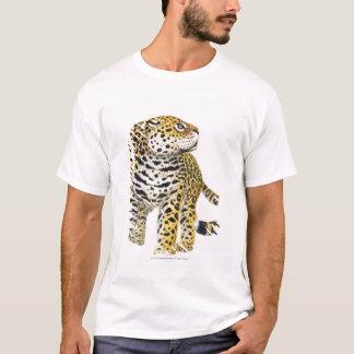 Illustration von Jaguar mit Kopf im Profil T-Shirt