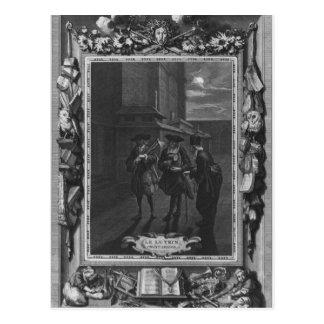 """Illustration von """"Le Lutrin"""" durch Nicolas Postkarte"""