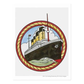 Illustration von titanischem postkarte