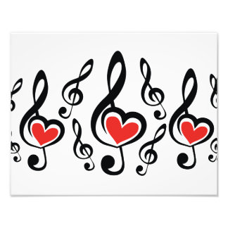 Illustrationclef-Liebe-Musik Fotodruck