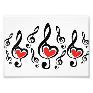 Illustrationclef-Liebe-Musik Fotografien