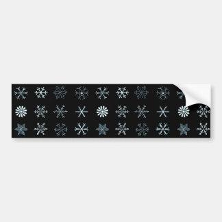 Illustrationen der Schneeflocken (Schwarzes) Autoaufkleber