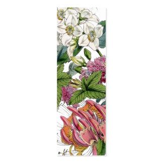 Illustrations botaniques vintages carte de visite petit format