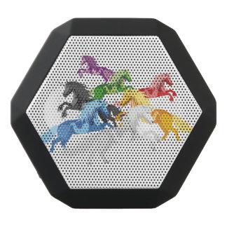 Illustrations-bunte wilde Einhörner Schwarze Bluetooth Lautsprecher
