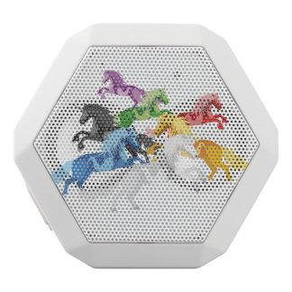 Illustrations-bunte wilde Einhörner Weiße Bluetooth Lautsprecher
