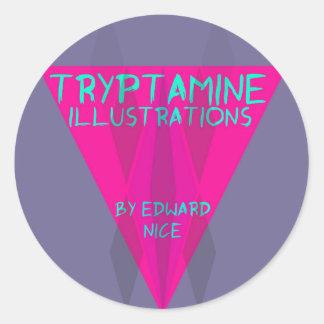 ILLUSTRATIONS DE TRYPTAMINE STICKER ROND
