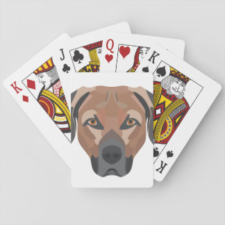 Illustrations-Hund Brown Labrador Spielkarten