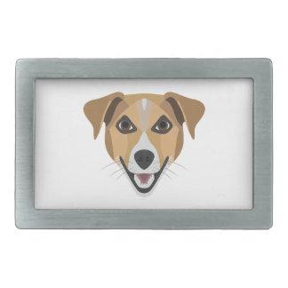 Illustrations-Hund lächelndes Terrier Rechteckige Gürtelschnalle