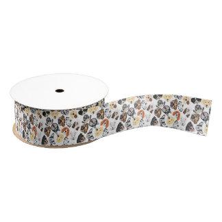 Illustrations-Muster-Hunde Ripsband