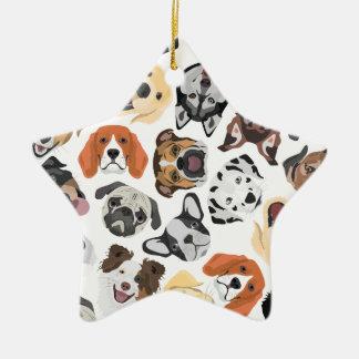 Illustrations-Muster-süße inländische Hunde Keramik Ornament