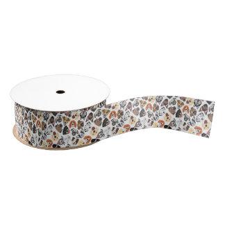 Illustrations-Muster-süße inländische Hunde Ripsband