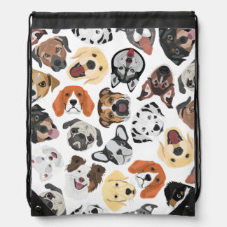 Illustrations-Muster-süße inländische Hunde Sportbeutel
