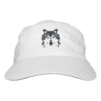 Illustrations-schwarzer Wolf Headsweats Kappe