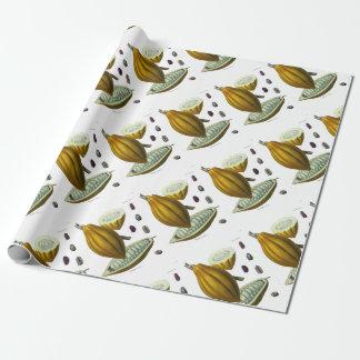 Illustrationsgeschenkpapier der Kakaobohne Geschenkpapier