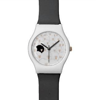 Illustrationsuhr der schwarzen Schafe Uhr