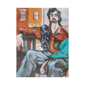 Illustrator in einer Wohnung Leinwanddruck