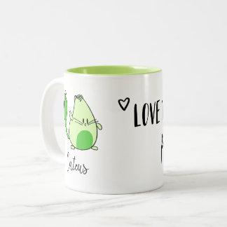 illustrierte inspirational Zitat-Tasse des Kaktus Zweifarbige Tasse