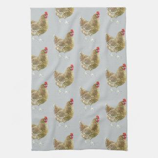 Illustriertes gemustertes Huhn-Küchen-Tee-Tuch Handtuch