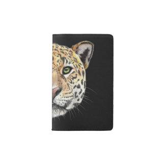 Illustriertes Porträt des Jaguars Moleskine Taschennotizbuch