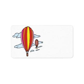 Im Ballon aufsteigen 5 Adressaufkleber