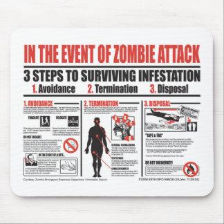 Im Falle der Zombie-Angriff MAUSUNTERLAGE Mauspad