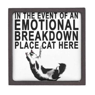 Im Falle eines EMOTIONALER ZUSAMMENBRUCH Platz CAT Schachtel