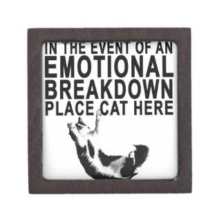 Im Falle eines EMOTIONALER ZUSAMMENBRUCH Platz CAT Schmuckkiste