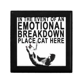 Im Falle eines EMOTIONALER ZUSAMMENBRUCH Platz CAT Schmuckschachtel