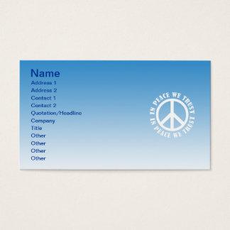 Im Frieden vertrauen wir Visitenkarte