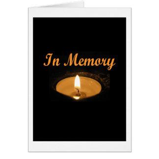Im Gedächtnis-Kerzen-Glühen Grußkarte