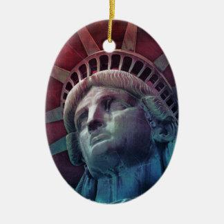 Im Gott vertrauen wir Ovales Keramik Ornament