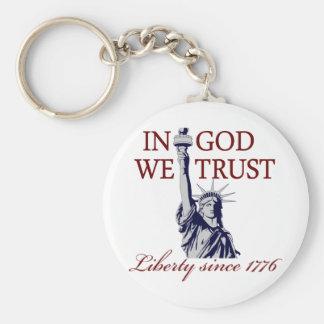 Im Gott vertrauen wir Schlüsselbänder