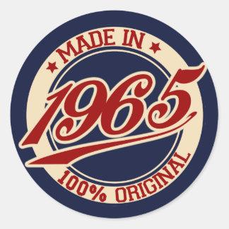 Im Jahre 1965 gemacht Runde Aufkleber