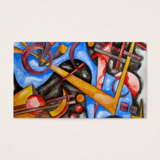Im Kosmos - abstrakte Kunst geometrisch Visitenkarte