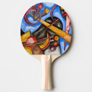 Im Kosmos - abstrakte Kunst handgemalt Tischtennis Schläger