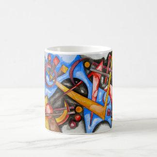 Im Kosmos-Abstrakte Kunst-handgemalten Kaffeetasse