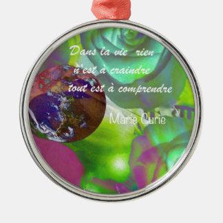 Im Leben wird alles nicht verstanden Rundes Silberfarbenes Ornament