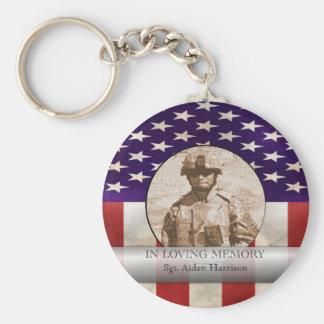 Im liebevolles Gedächtnis-MilitärFoto Schlüsselanhänger
