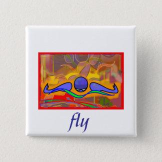 IM Morgen-Fliege Quadratischer Button 5,1 Cm