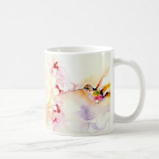 """Im rosa"" Kolibri-Druck Kaffeetasse"
