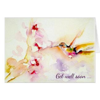 """""""Im rosa"""" Kolibri erhalten Sie gut Grußkarte"""