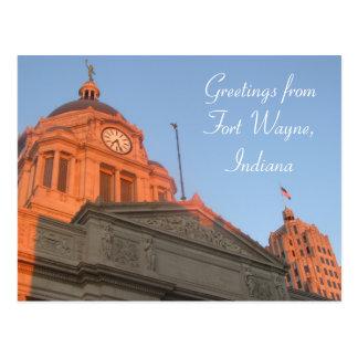 Im Stadtzentrum gelegene Fort Wayne Postkarte