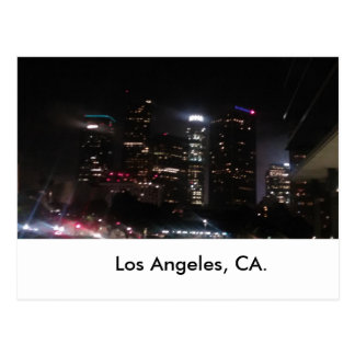 Im Stadtzentrum gelegene Gebäude Los Angeles Postkarte