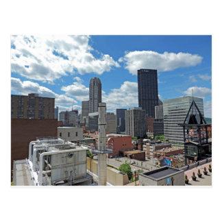Im Stadtzentrum gelegene Pittsburgh-Skyline Postkarte